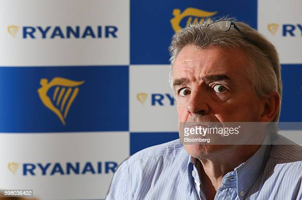 Michael O'Leary chief executive officer of Ryanair Holdings Plc pauses during a news conference in London UK on Wednesday Aug 31 2016 Ryanair...