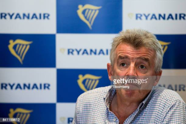 Michael O'Leary chief executive officer of Ryanair Holdings Plc pauses during a news conference in London UK on Thursday Aug 31 2017 O'Leary said he...