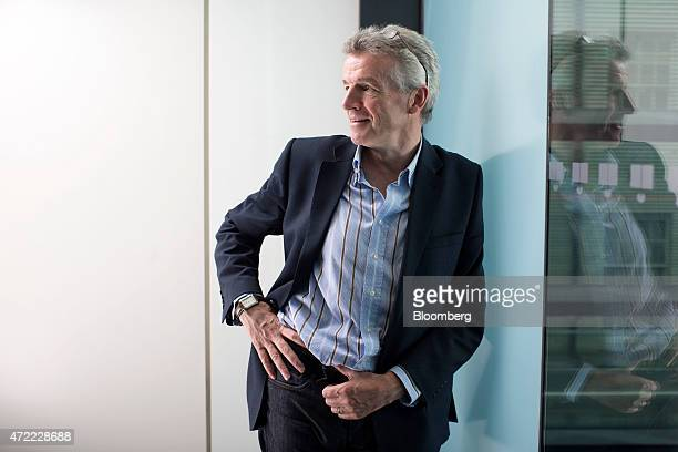 Michael O'Leary chief executive officer of Ryanair Holdings Plc poses for a photograph following a Bloomberg Television interview in London UK on...