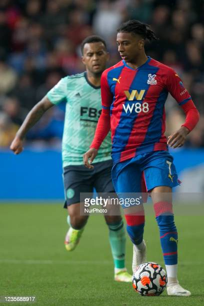 Michael Olise of Crystal Palace controls the ball during the Premier League match between Crystal Palace and Leicester City at Selhurst Park, London...