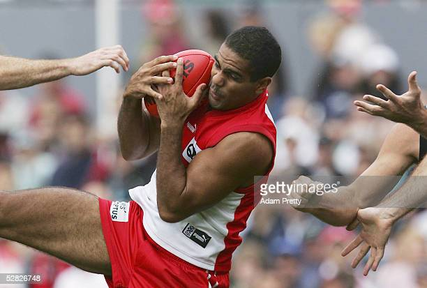 Michael O'Loughlin of the Swans in action during the round eight AFL match between the Sydney Swans and the Port Adelaide Power at the Sydney Cricket...