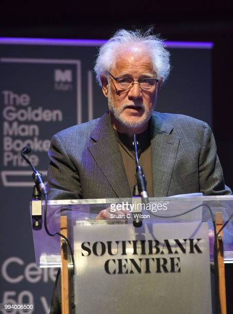 Michael Ondaatje speaks after winning the Golden Man Booker Prize at The Royal Festival Hall on July 8 2018 in London England