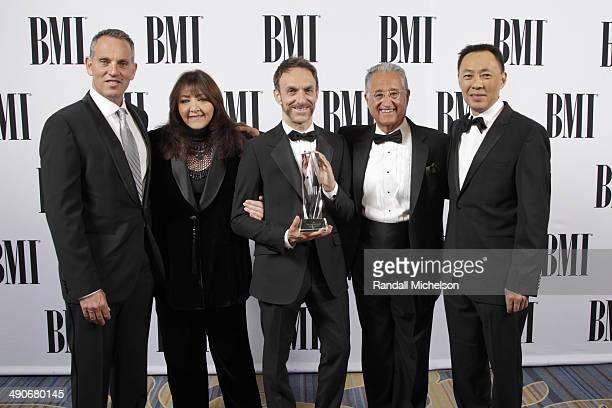 BMI CEO Michael O'Neill BMI Vice President Film/TV Relations Doreen RingerRoss BMI Richard Kirk Award recipient Mychael Danna BMI President Del...