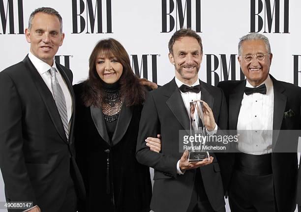 BMI CEO Michael O'Neill BMI Vice President Film/TV Relations Doreen RingerRoss BMI Richard Kirk Award recipient Mychael Danna and BMI President Del...