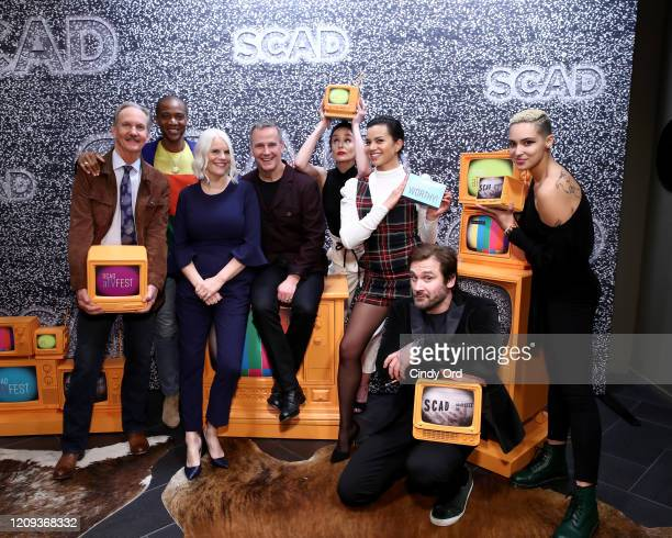 Michael O'Neill J August Richards Joan Rater Tony Phelan Sarah Wayne Callies Michele Weaver and Clive Standen attend SCAD aTVfest 2020 Council Of...