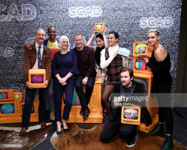 Michael O'Neill J August Richards Joan Rater Tony Phelan Sarah Wayne Callies Michele Weaver Corey Graves and Clive Standen attend SCAD aTVfest 2020...
