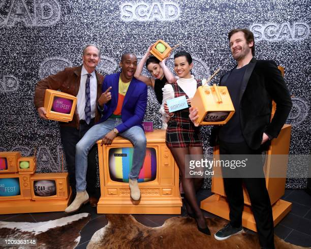 Michael O'Neill J August Richards Sarah Wayne Callies Michele Weaver and Clive Standen attend SCAD aTVfest 2020 Council Of Dads on February 28 2020...