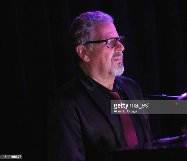 Michael Orland performs at the EP Release Party for Jade Patteri held at The Federal NoHo on September 21, 2021 in North Hollywood, California.