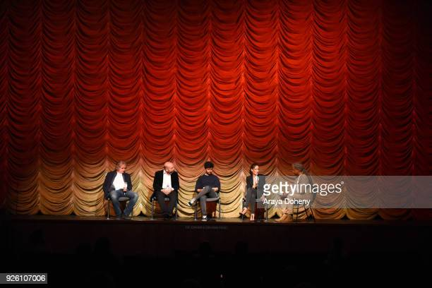 Michael O'Shea Antonio Mendez Esparza Amman Abbasi Ana Asensio and Elvis Mitchell attend the Film Independent at LACMA hosts special screening of 'A...
