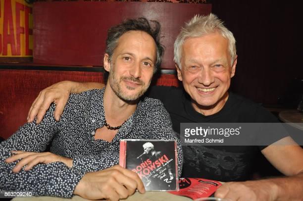 Michael Ostrowski and Boris Bukowski presents his new album 'Gibt's ein Leben vor dem Tod' at Cafe Jenseits on October 19 2017 in Vienna Austria