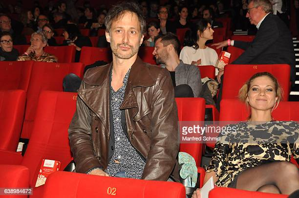 Michael Ostrowski and Hilde Dalik attend the 'Die Hoelle' Vienna Premiere at Cineplexx Wienerberg cinema on January 16 2017 in Vienna Austria