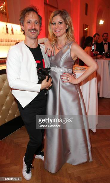 Michael Ostrowski and his partner Hilde Dalik during the ROMY award at Hofburg Vienna on April 13 2019 in Vienna Austria