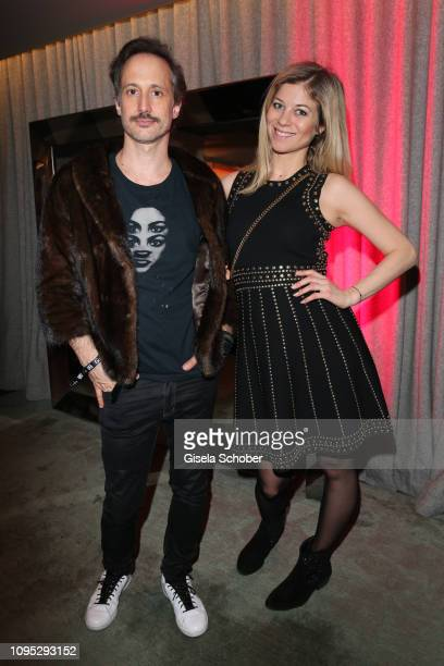 Michael Ostrowski and his wife Hilde Dalik attend the Berlinale Opening Night by GALA UFA Fiction at Das Stue on February 07 2019 in Berlin Germany