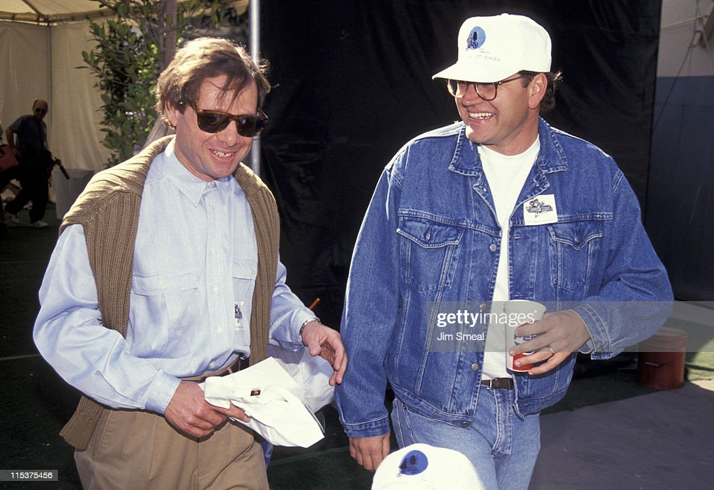 Michael Ovitz and Charles Fleischer during Opening of Universal Studios New ET Adventures Ride at Universal Studios in Universal City, California, United States.