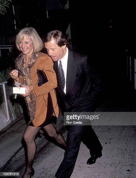 Michael Ovitz and Judy Ovitz during Marvin Davis Birthday Party at Spago's Restaurant in West Hollywood California United States