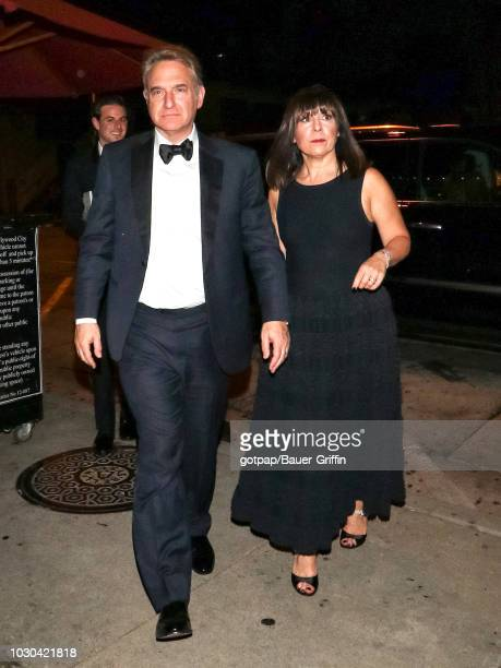 Michael Ovitz and Judy Reich are seen on September 09 2018 in Los Angeles California