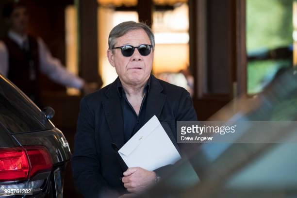 Michael Ovitz cofounder of the Creative Artists Agency arrives at the Sun Valley Resort for the annual Allen Company Sun Valley Conference July 10...
