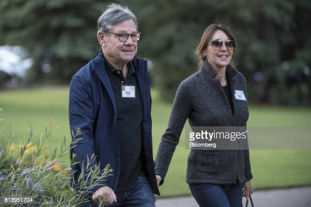Michael Ovitz former president of Walt Disney Co left arrives for the morning session during the Allen Co Media and Technology conference in Sun...
