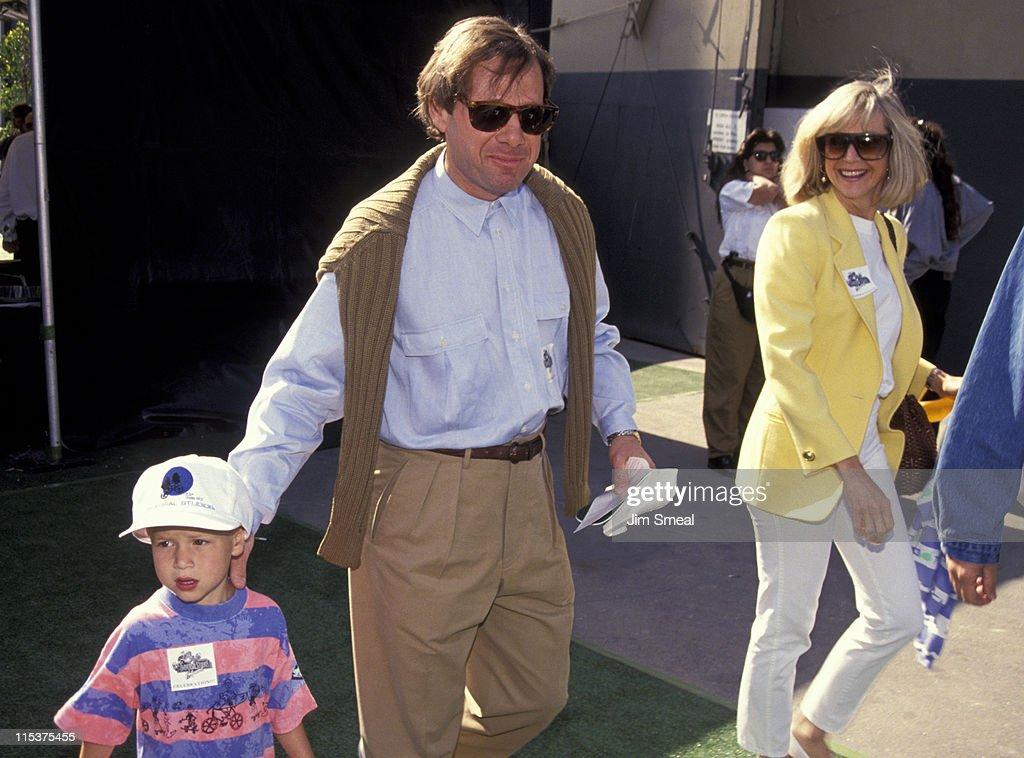 Michael Ovitz, Judy Ovitz, and children during Opening of Universal Studios New ET Adventures Ride at Universal Studios in Universal City, California, United States.