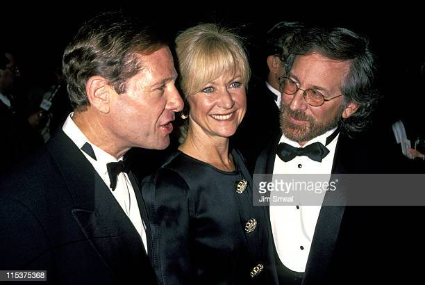 Michael Ovitz Judy Ovitz and Steven Spielberg during Weizmann Institute Of Science Dinner Honors Steven Spielberg at Beverly Hilton Hotel in Beverly...