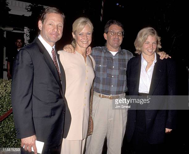 Michael Ovitz Judy Ovitz Ron Meyer Kelly Meyer during First Knight Los Angeles Premiere at The Academy Theater in Beverly Hills California United...