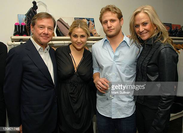 Michael Ovitz Kimberly Ovitz Daniel Ovitz and Judy Ovitz attend the Kimberly Ovitz Trunk Show at Satine Boutique on March 12 2009 in Los Angeles...