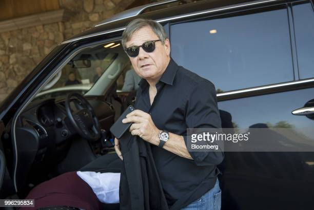 Michael Ovitz owner of Broad Beach Ventures LLC arrives for the Allen Co Media and Technology Conference in Sun Valley Idaho US on Tuesday July 10...