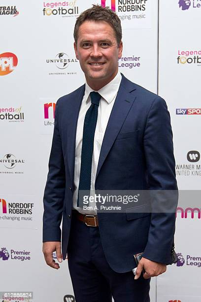 Michael Owen attends the 21st Legends of football event to celebrate 25 seasons of the Premier League and raise money for music therapy charity...