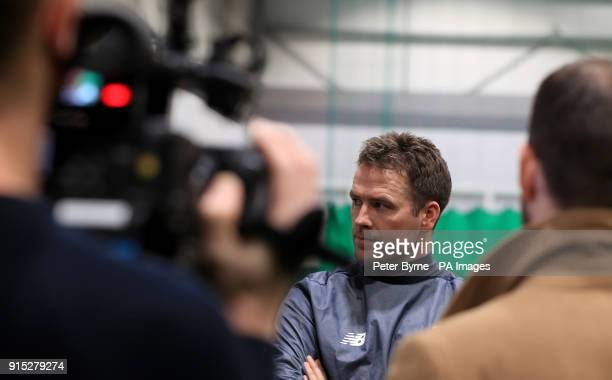 Michael Owen during a preview day for the Liverpool Legends charity match against Bayern Munich at The LFC Academy Liverpool