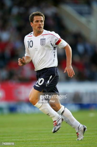 Michael Owen in action during the FA England B International match between England B and Albania at Turf Moor on May 25, 2007 in Burnley, England .