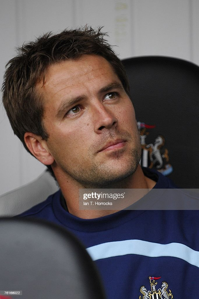 Michael Owen is pictured on the bench during a Premier League game between Newcastle United and Aston Villa at St James' Park , Newcastle on August 18, 2007 in Newcastle, England.