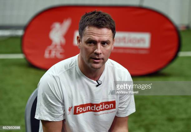 Michael Owen Liverpool Legend during a training session at Liverpool FC Academy on March 13 2017 in Kirkby England