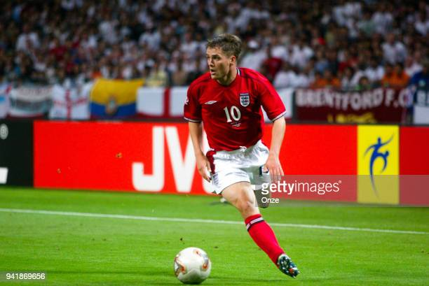 Michael Owen of England during the World Cup match between Argentina and England on 7th June 2002 at Sapporo Dome Sapporo Japan