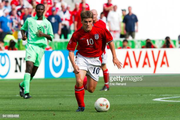 Michael Owen of England during the World Cup match between Nigeria and England on 12th June 2002 at Nagai Stadium Osaka Japan