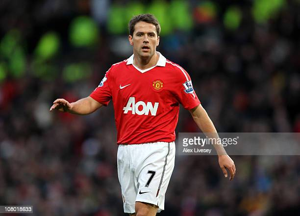 Michael Owen of Manchester United looks on during the FA Cup sponsored by EON 3rd round match between Manchester United and Liverpool at Old Trafford...