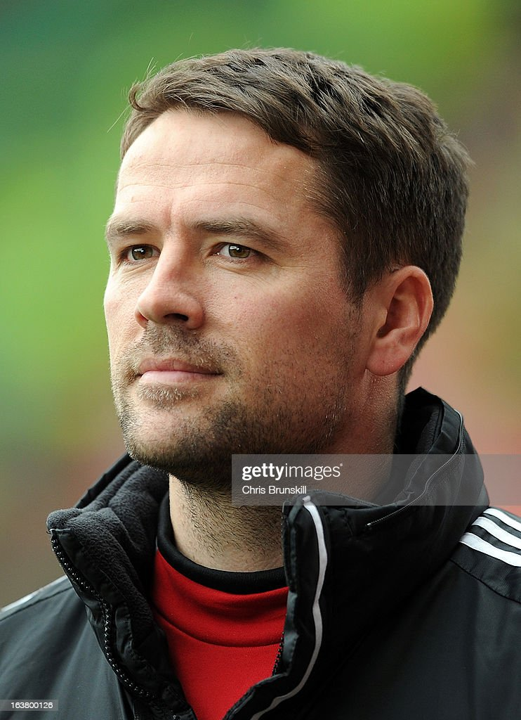 Michael Owen of Stoke City looks on during the Barclays Premier League match between Stoke City and West Bromwich Albion at Britannia Stadium on March 16, 2013 in Stoke on Trent, England.