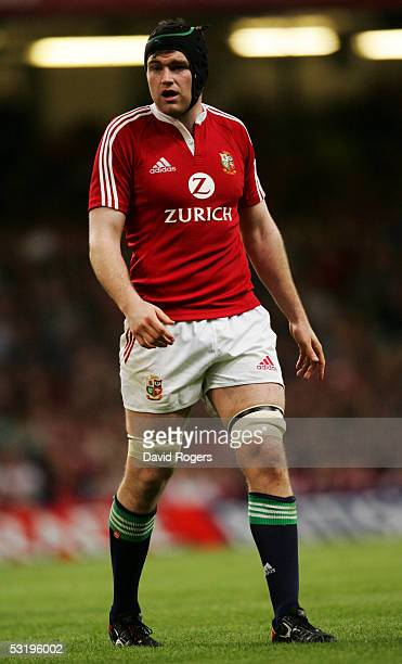 Michael Owen of the Lions pictured during the Rugby Union International Match between the British and Irish Lions and Argentina at the Millennium...