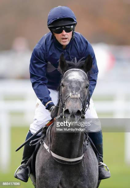Michael Owen rides 'Calder Prince' in The Prince's Countryside Fund Charity Race at Ascot Racecourse on November 24 2017 in Ascot England