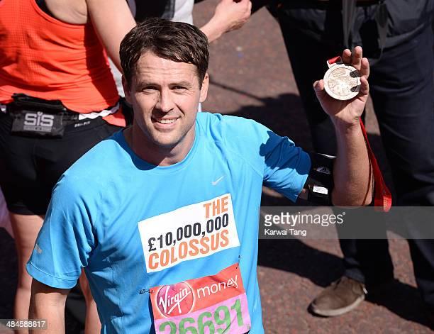 Michael Owen takes part in the 2014 London Marathon on April 13 2014 in London England