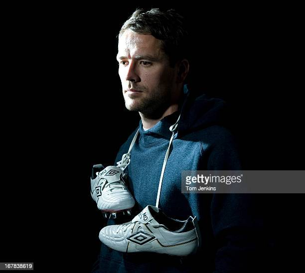 Michael Owen the Manchester United and England footballer poses for a portrait at the Umbro headquarters on January 20 2010 in Cheadle Cheshire