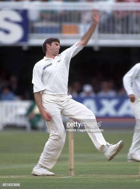 Michael Owens bowling for New Zealand during the 2nd Test match between England and New Zealand at Lord's Cricket Ground London 17th June 1994