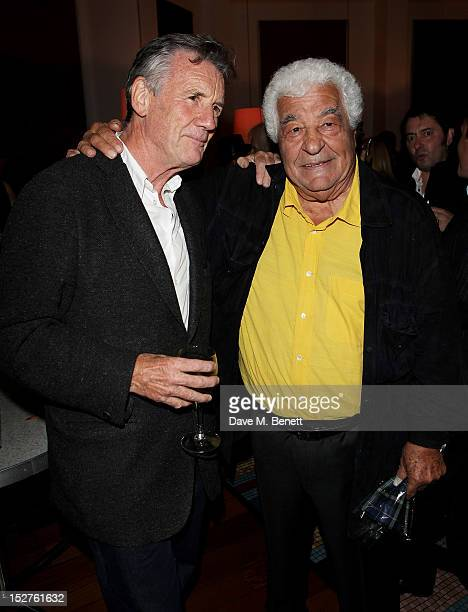 Michael Palin and chef Antonio Carluccio attend a party to celebrate the release of Carluccio's memoir 'A Recipe For Life' at Carluccio's Garrick...
