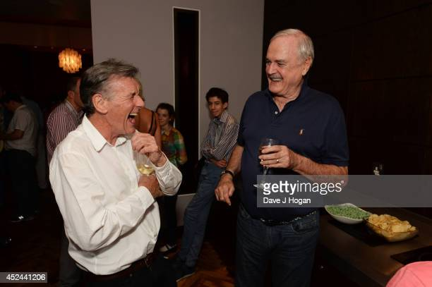 Michael Palin and John Cleese attend the closing night after party for 'Monty Python Live ' at The O2 Arena on July 20 2014 in London England