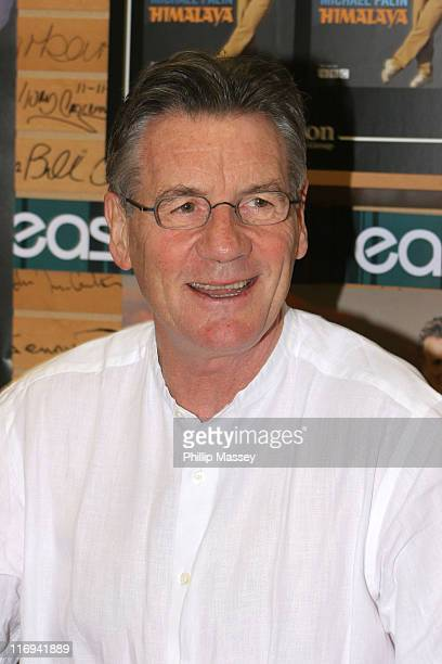 Michael Palin during Michael Palin Book Signing at Easons Book Store in Dublin Ireland