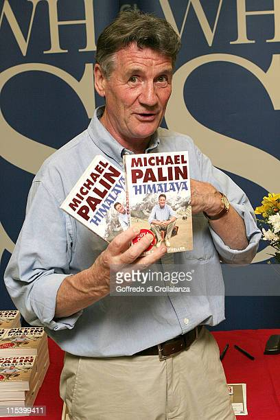 Michael Palin during Michael Palin Signs His Book 'Himalaya' at WHSMith in Victoria Station June 20 2005 at WHSMith Victoria Station in London Great...