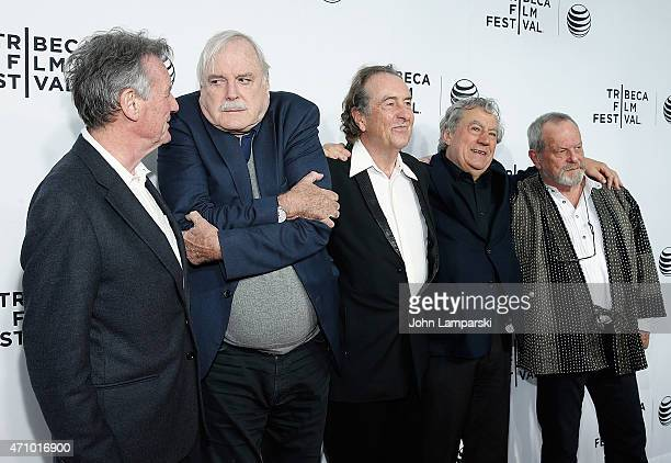 Michael Palin John Cleese Eric Idle Terry Jones and Terry Gilliam attend Special Screening Narrative 'Monty Python And The Holy Grail' during the...