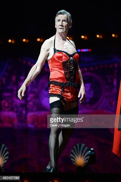 Michael Palin performs on the closing night of 'Monty Python Live ' at The O2 Arena on July 20 2014 in London England