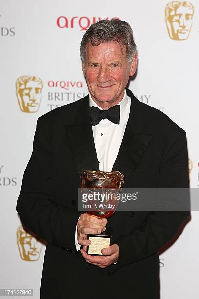 Michael Palin poses in the press room at the Arqiva British Academy Television Awards 2013 at the Royal Festival Hall on May 12 2013 in London England