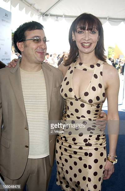 Michael Panes and Illeana Douglas during The 18th Annual IFP Independent Spirit Awards Arrivals at Santa Monica Beach in Santa Monica California...
