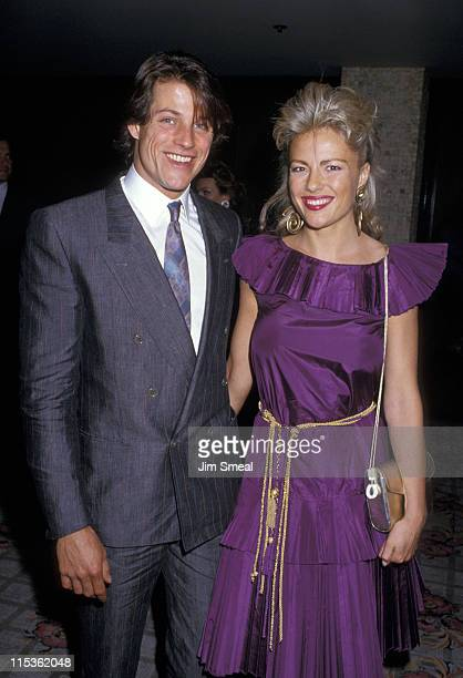 Michael Pare and wife during Michael Pare at CBS Television Affiliates Dinner at Century Plaza Hotel in Century City California United States